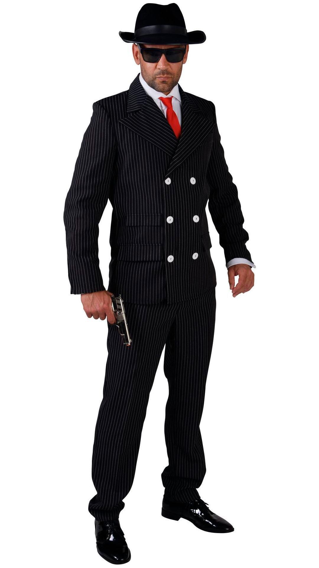 Maffia kostuum zwart mannen