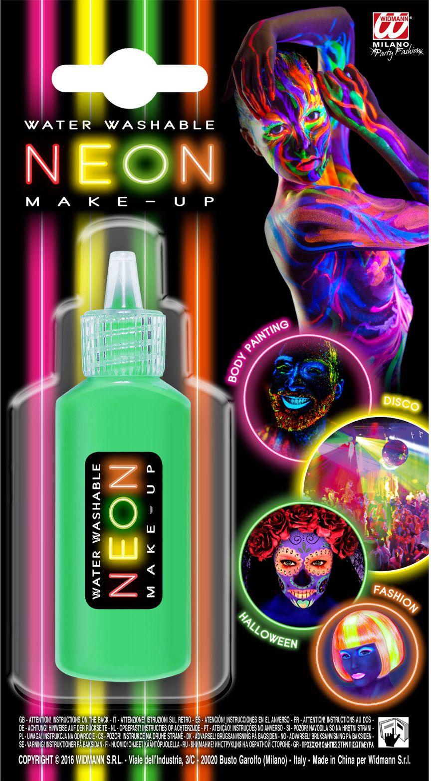 Make-up flesje neon groen