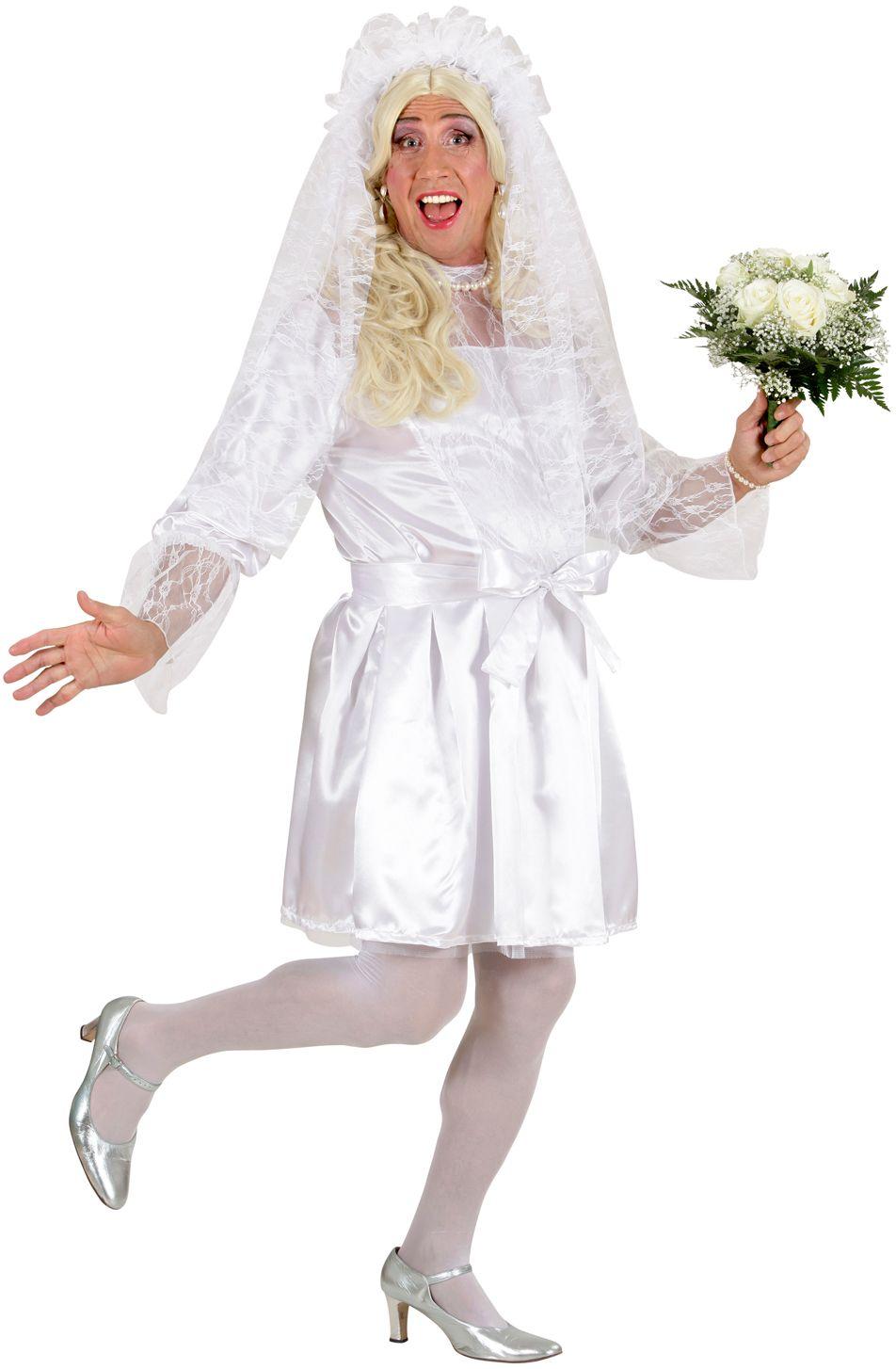 Mannelijke bruid kostuum