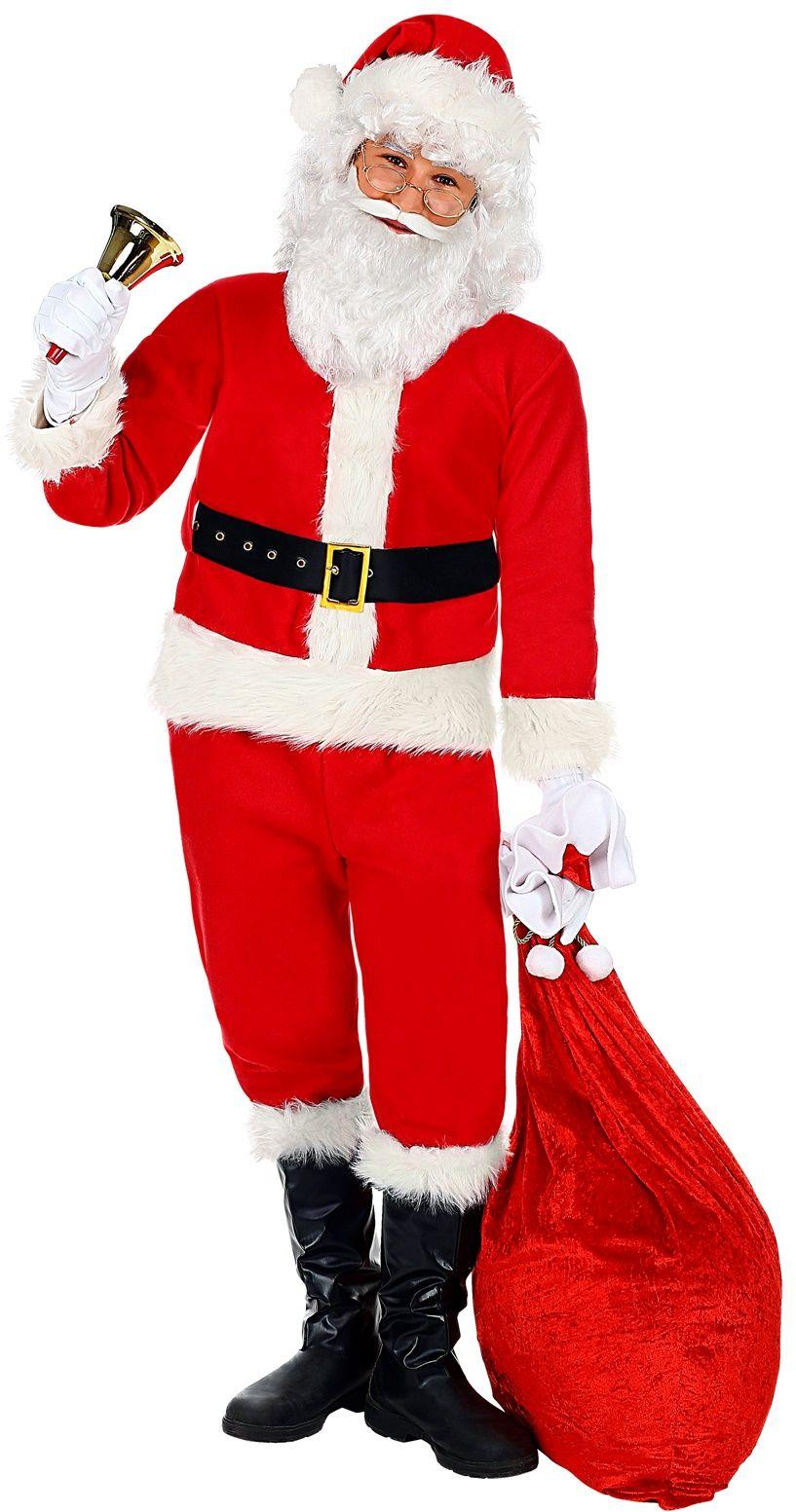 Mannen kerstman kostuum