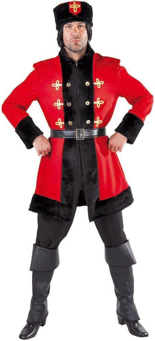 Mannen pak Kozak Rusland rood