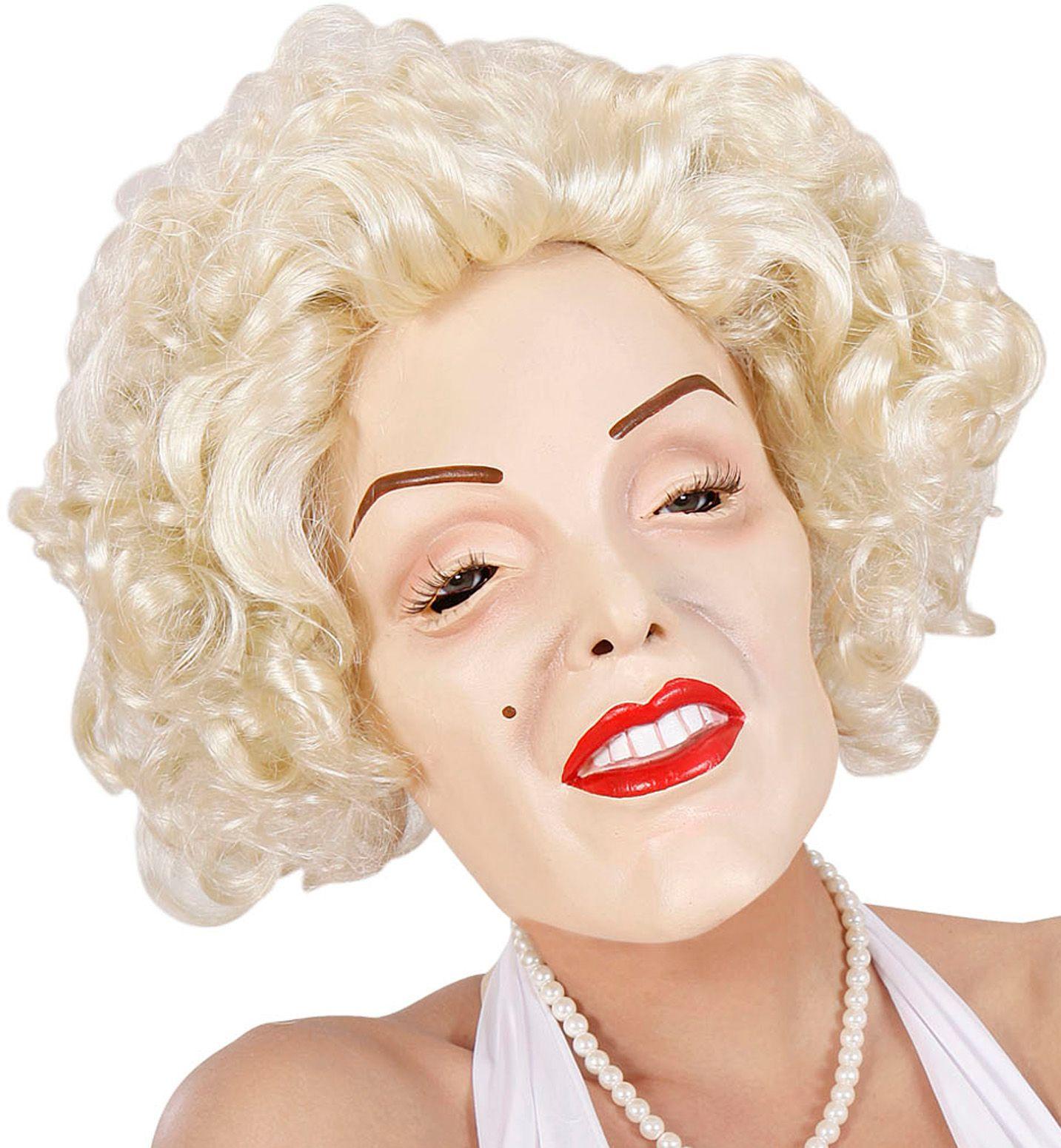Marilyn Monroe masker met pruik