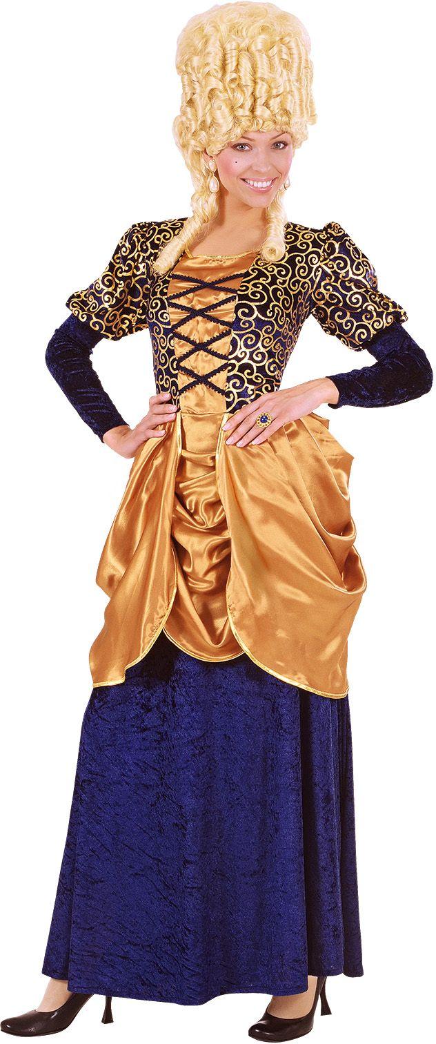 Markiezin kostuum blauw