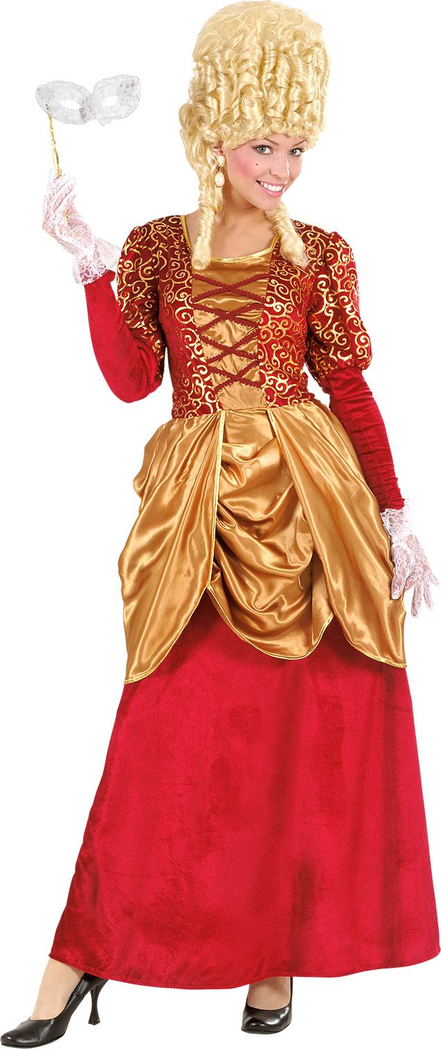 Markiezin kostuum rood