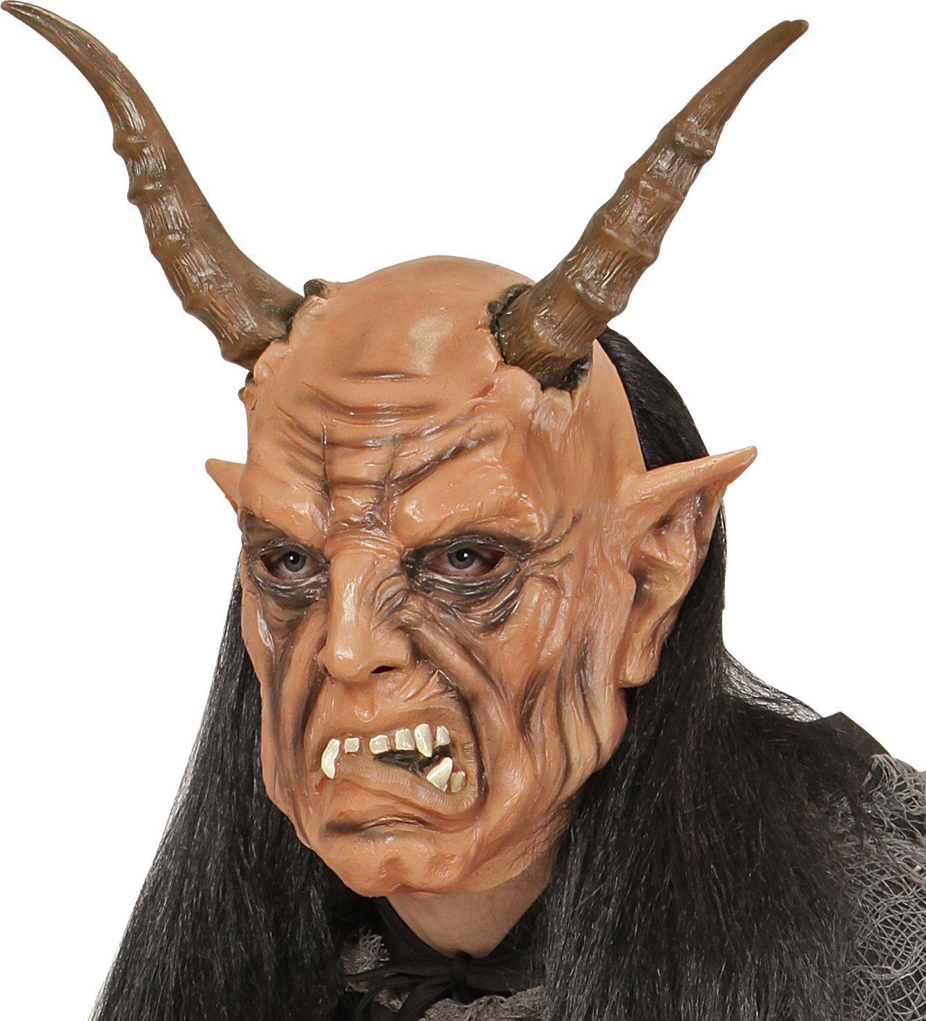 Masker duivel met pruik