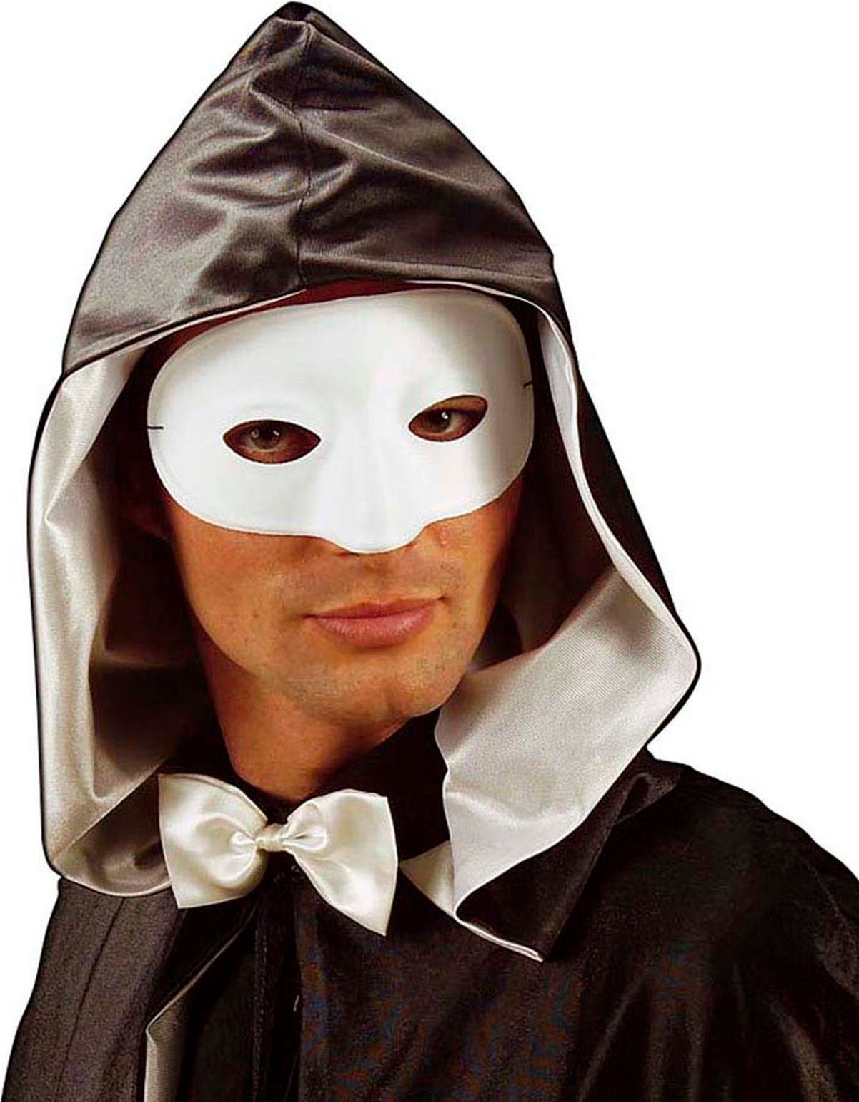 Maskerade oogmasker wit