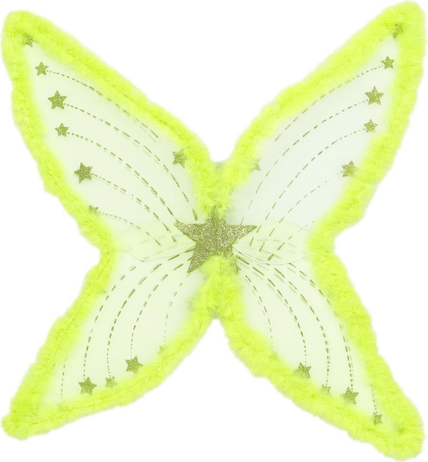 Maxi glitter vleugels groen