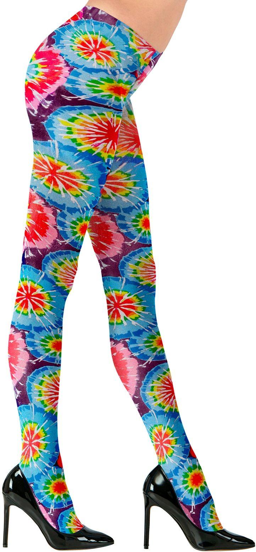 Meerkleurige disco panty