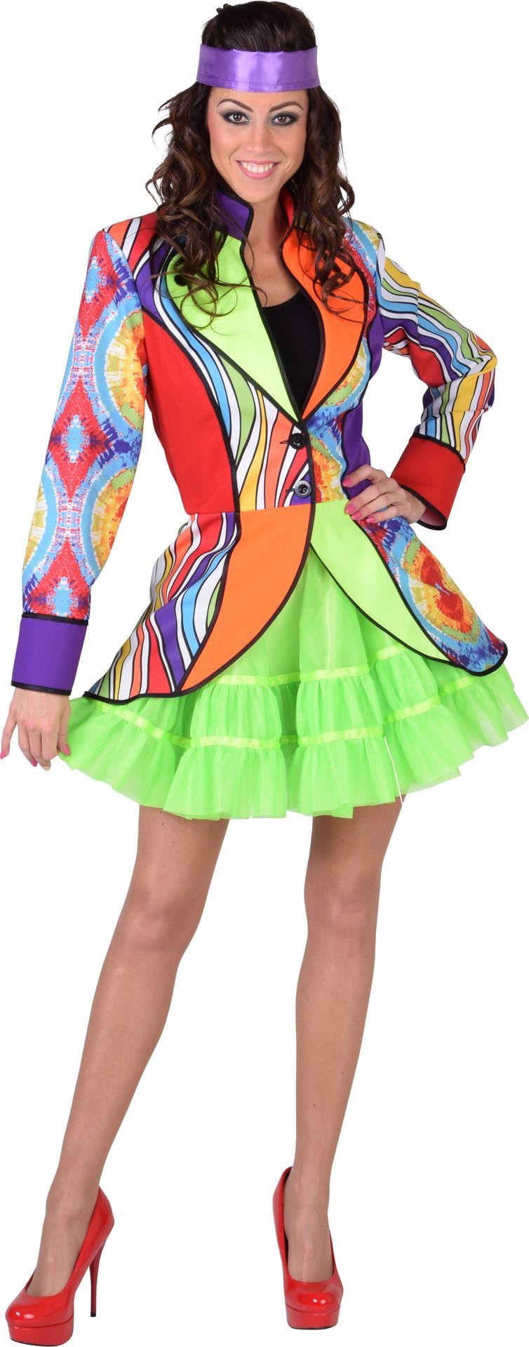 Meerkleurige hippie jas vrouwen