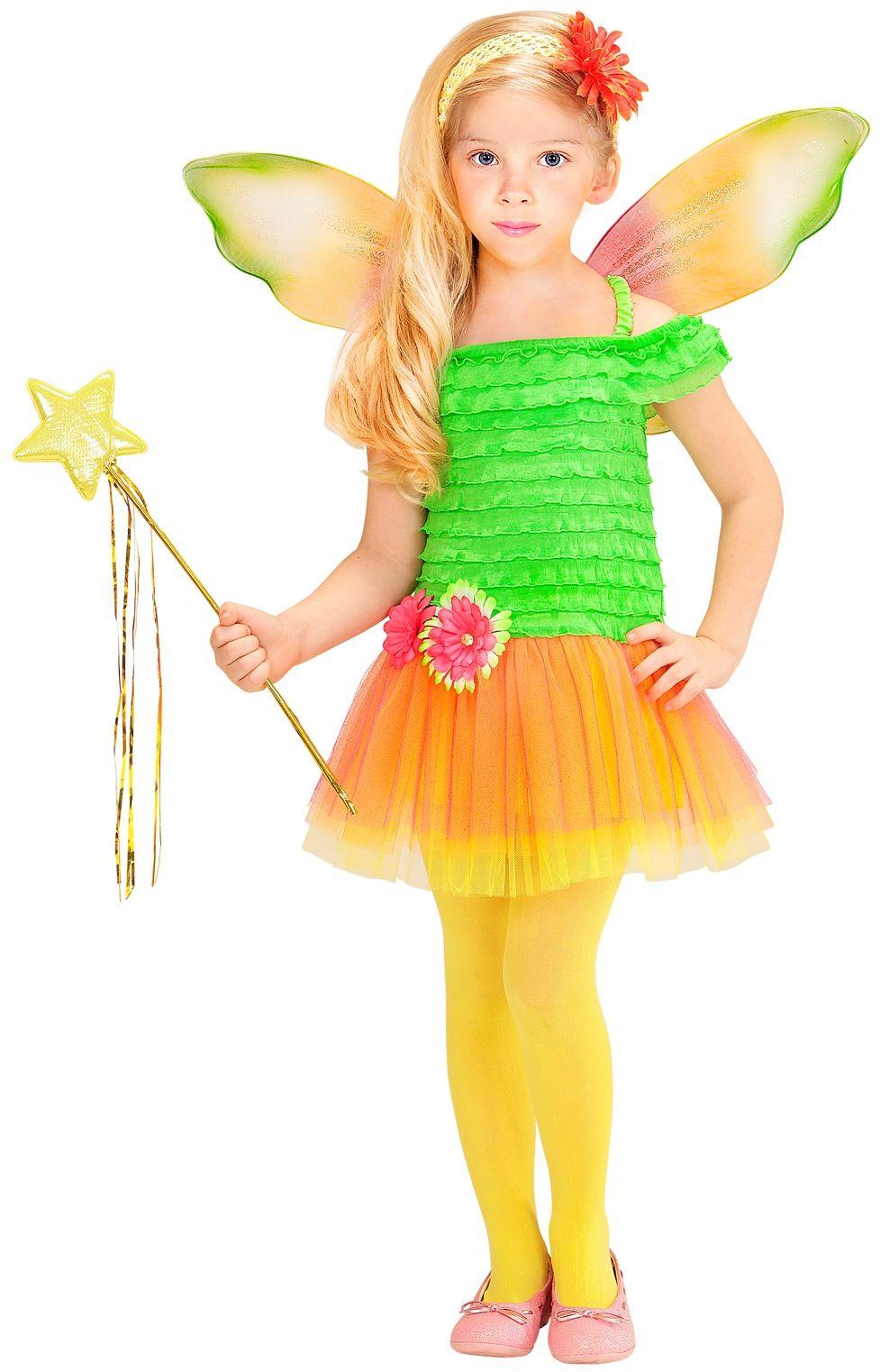 Meisjes fee jurkje groen