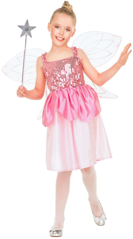 Meisjes fee jurkje roze
