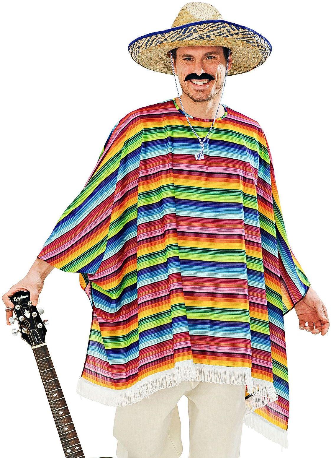Mexicaanse poncho en sombrero