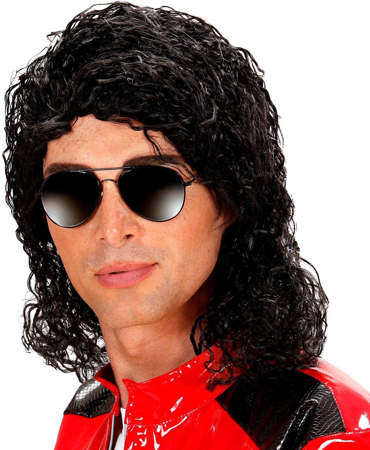 Michael Jackson pruik zwart