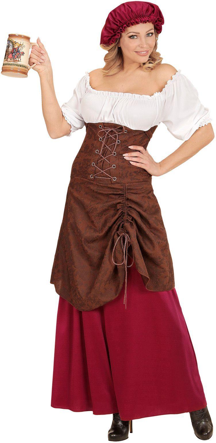Middeleeuwse herberg meisje jurk