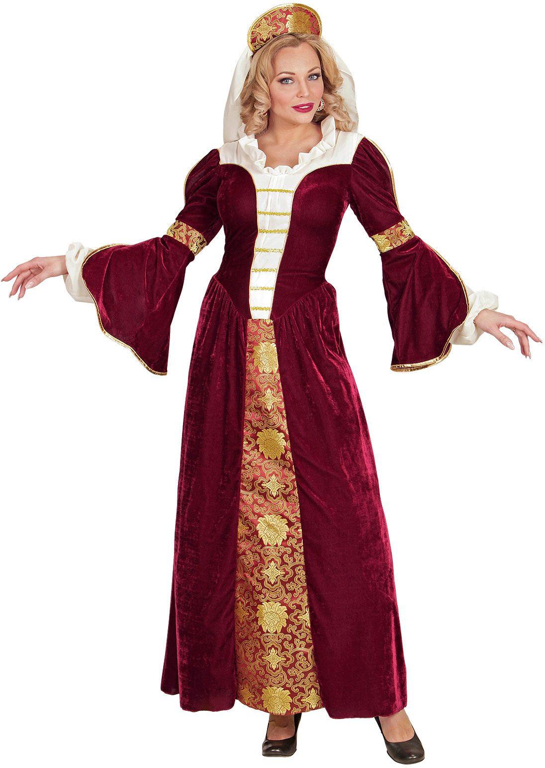 Middeleeuwse koningin kleding