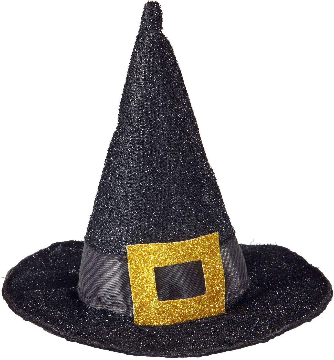 Mini glitter heksen hoge hoed
