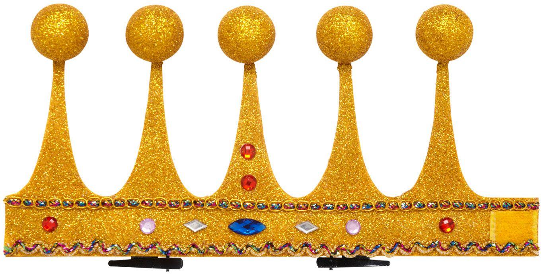 Mini glitter koning kroon