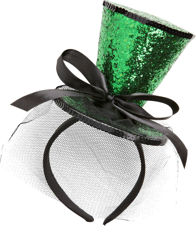 Mini groene glitter hoge hoed