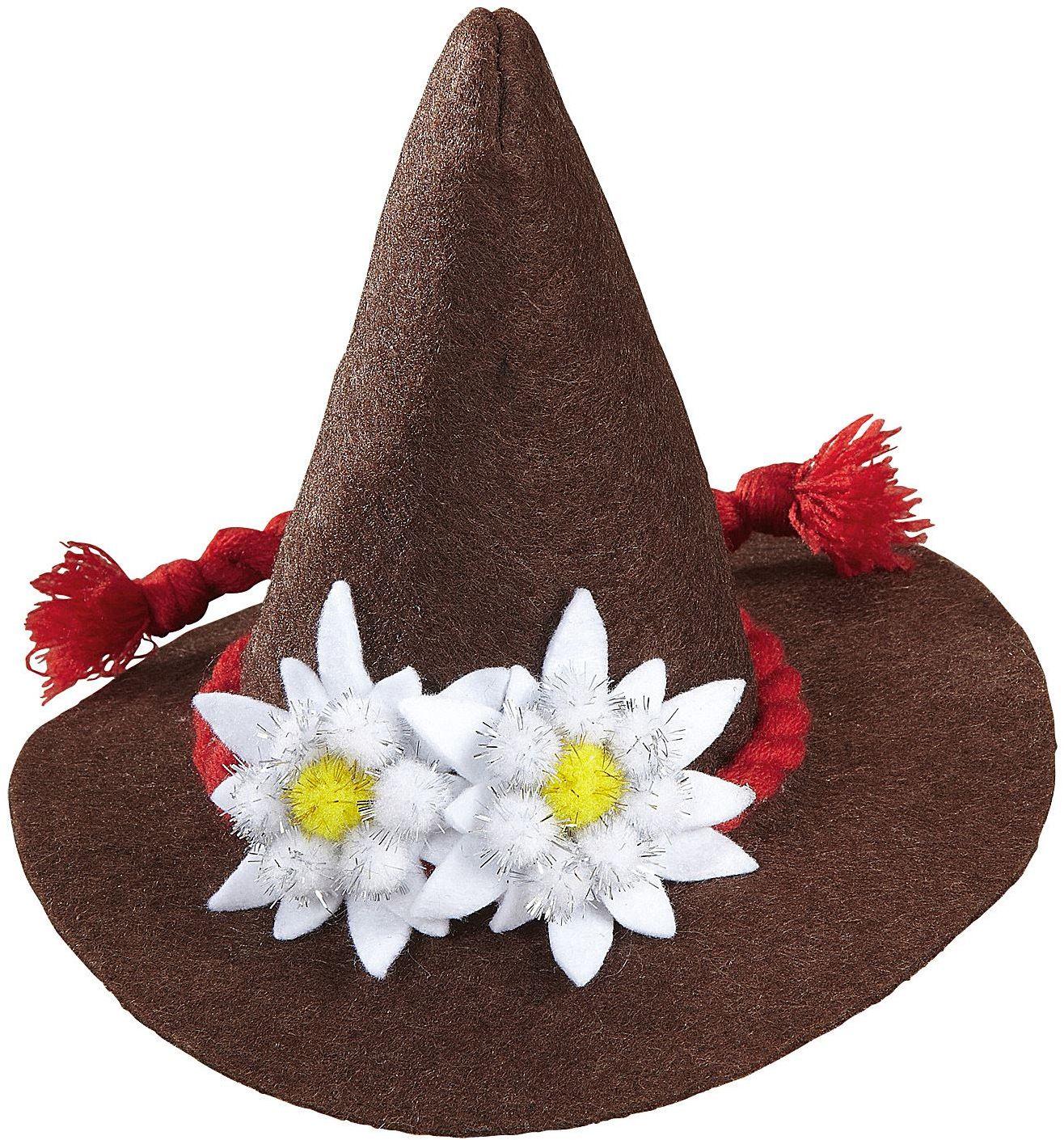 Mini oktoberfest hoed bruin
