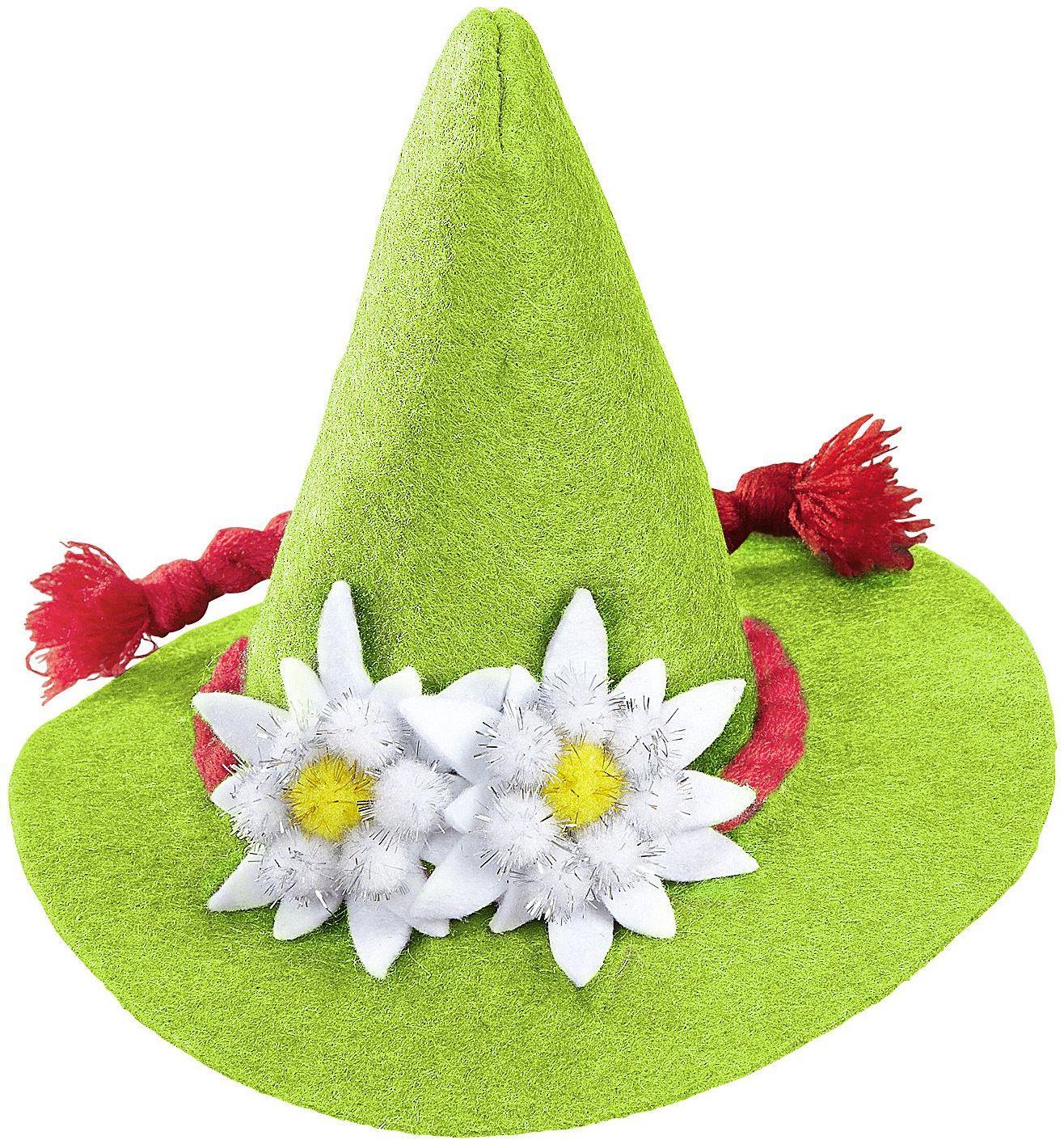 Mini oktoberfest hoed groen