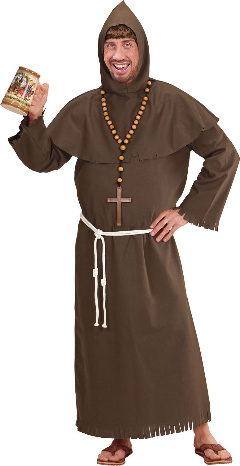 Monnik kostuum bruin