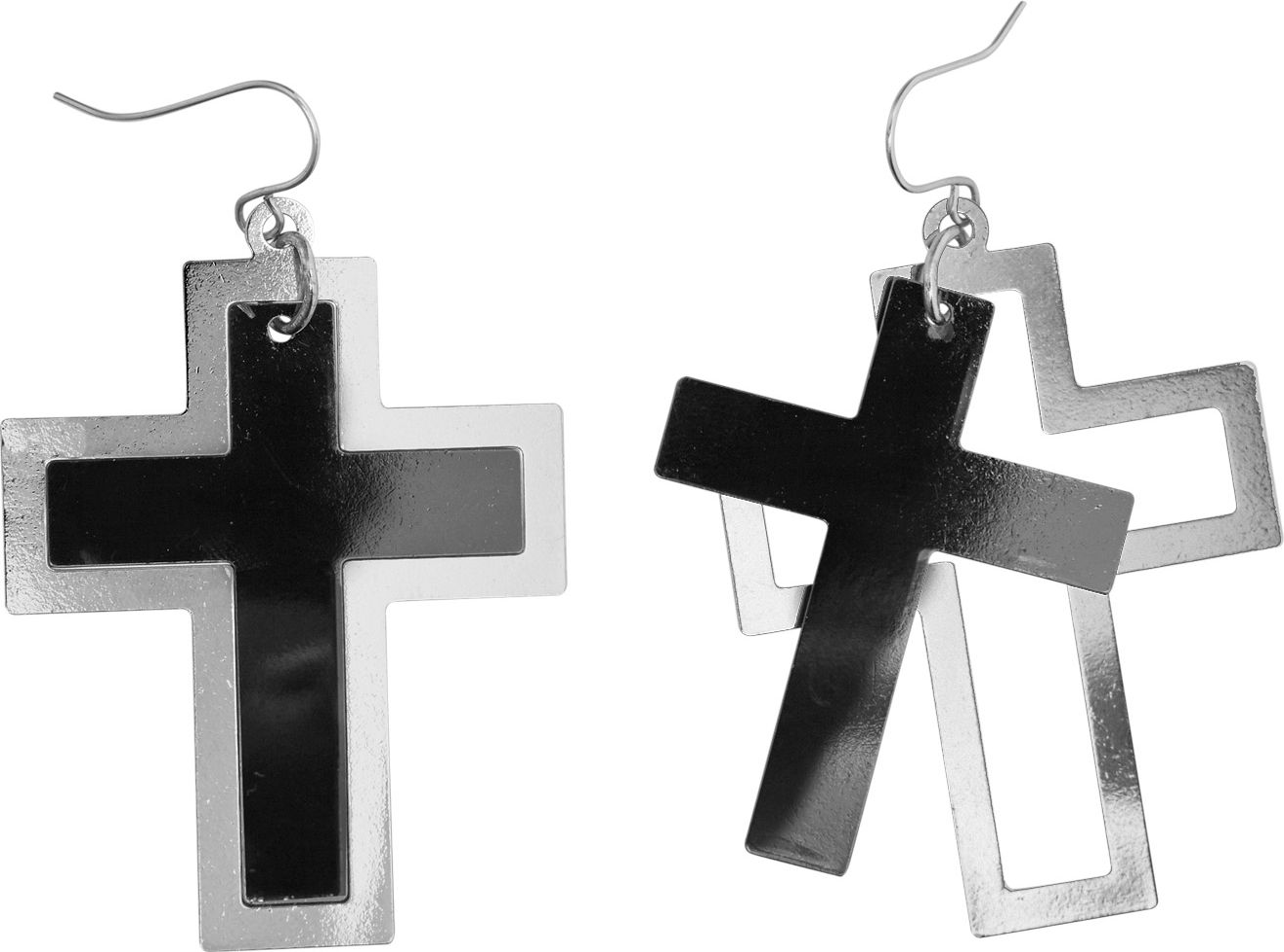 Monnik kruis oorbellen