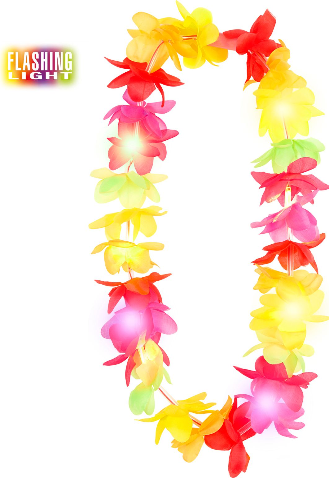 Multikleurige lichtgevende Hawaii slinger