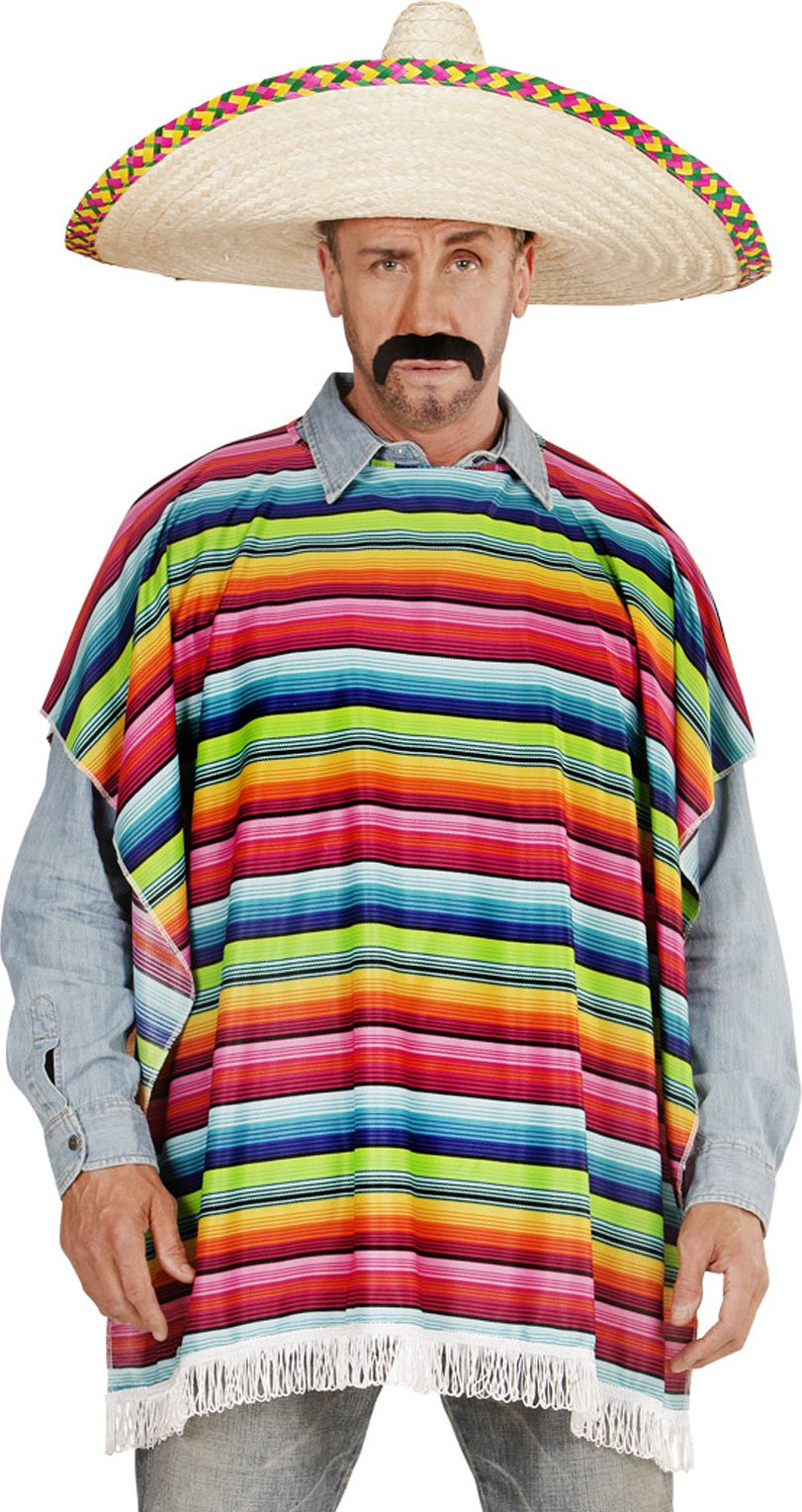 Multikleurige mexicaanse poncho