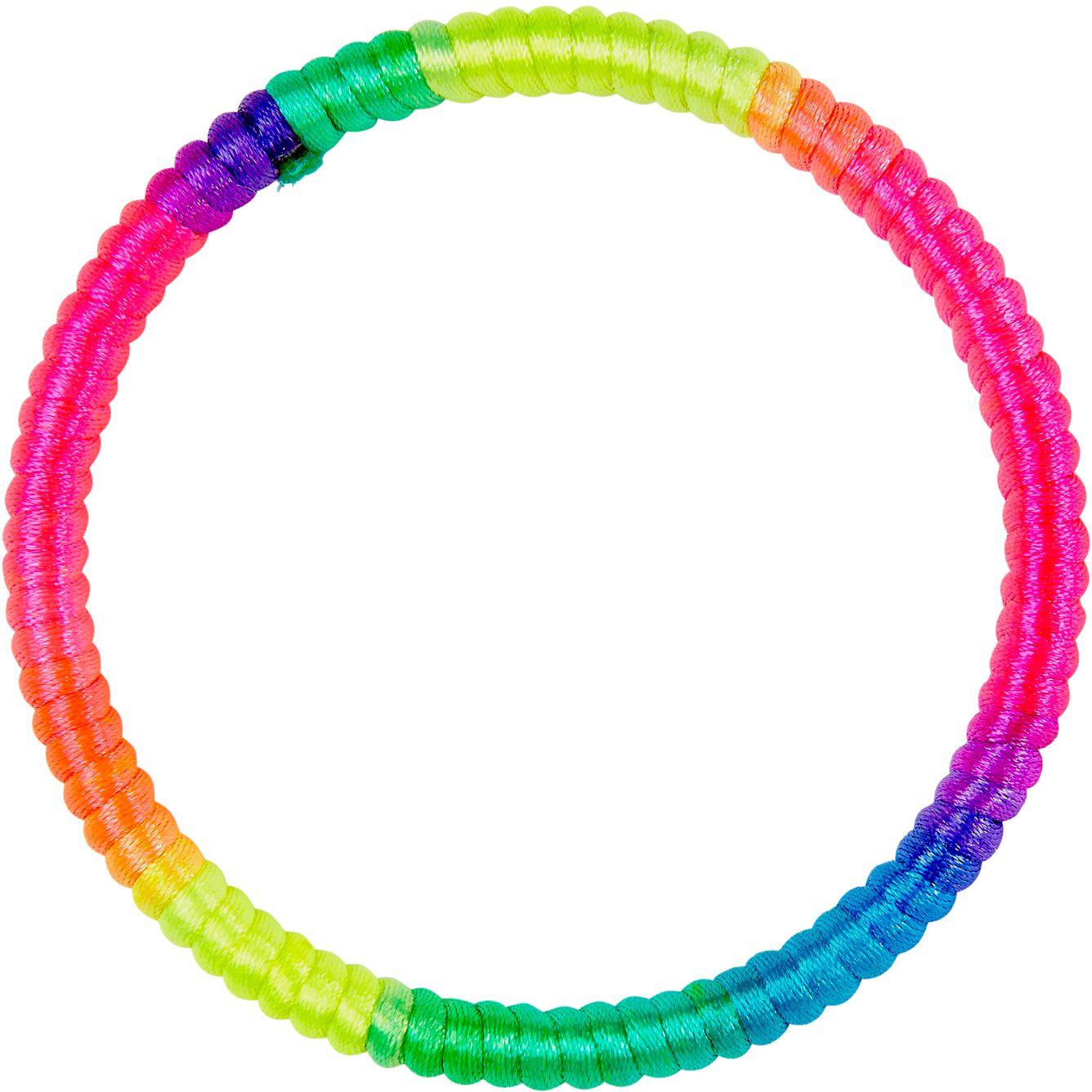 Multikleurige neon armband