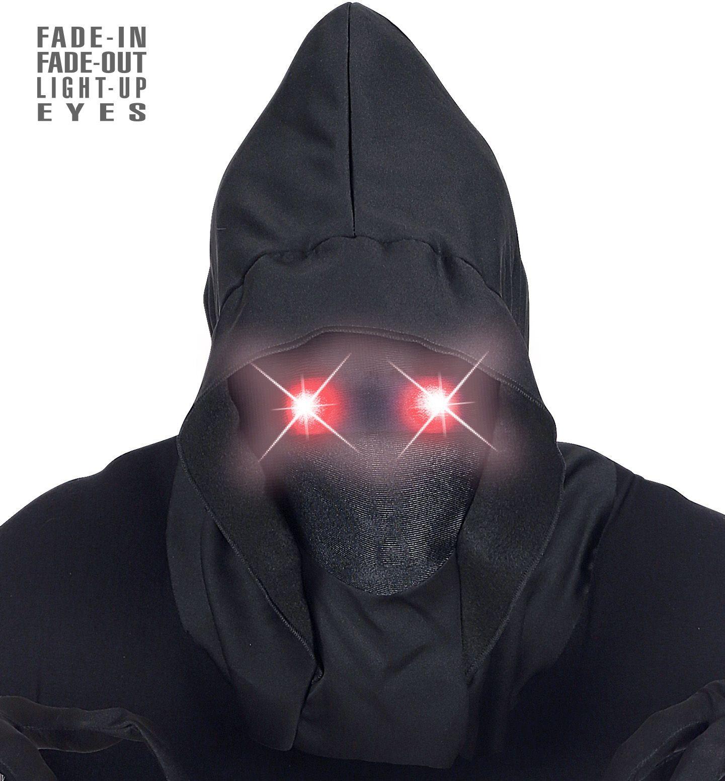 Mysterieus halloween masker rode ogen heren