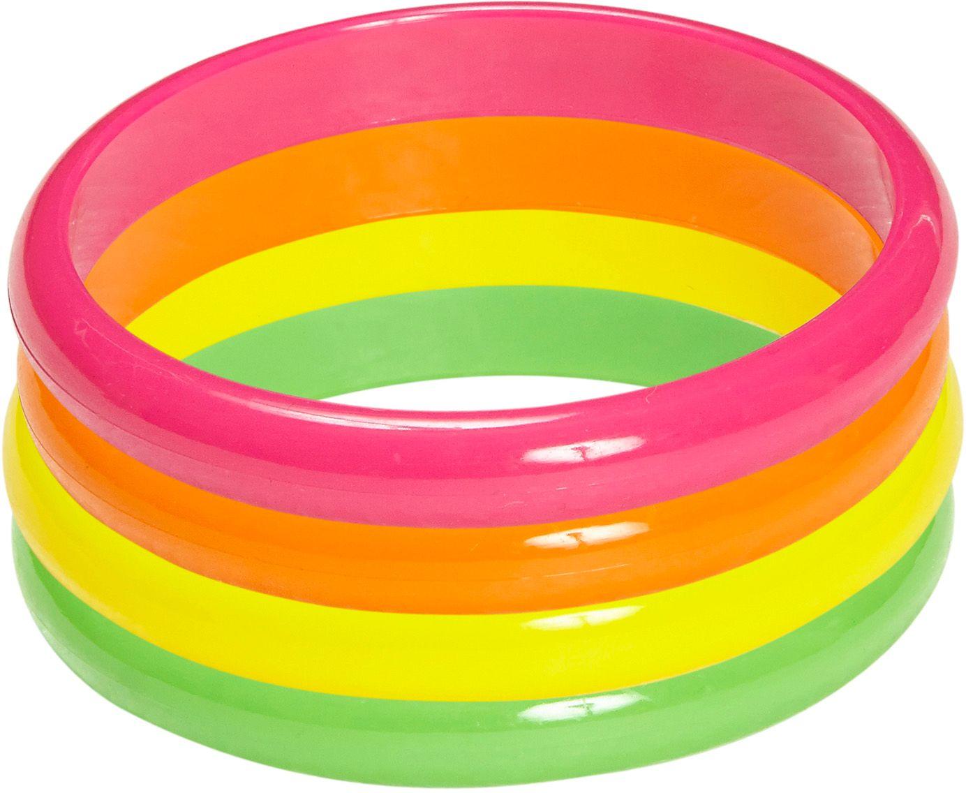 Neon armbanden 4 stuks