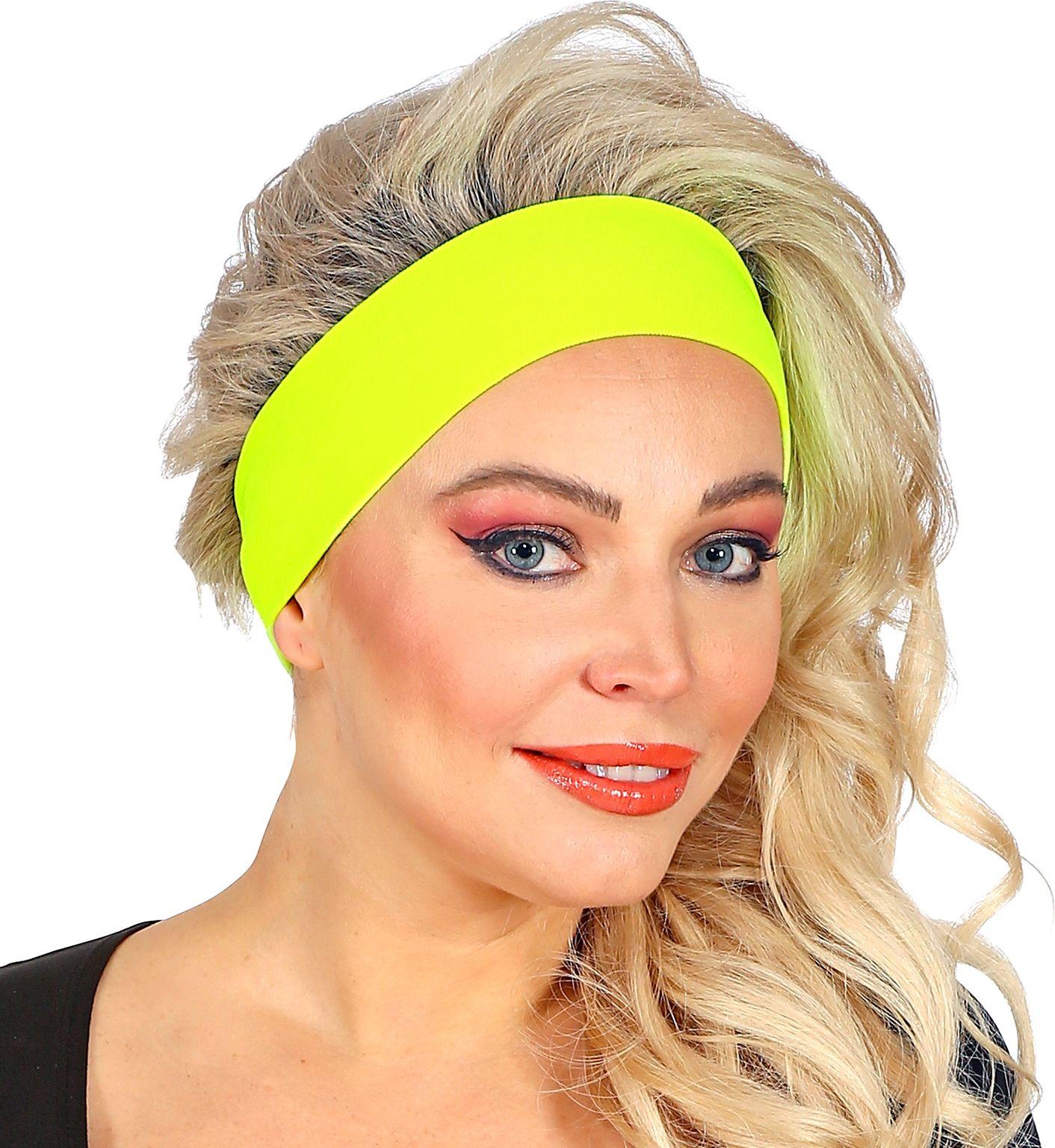 Neon gele 80s hoofdband