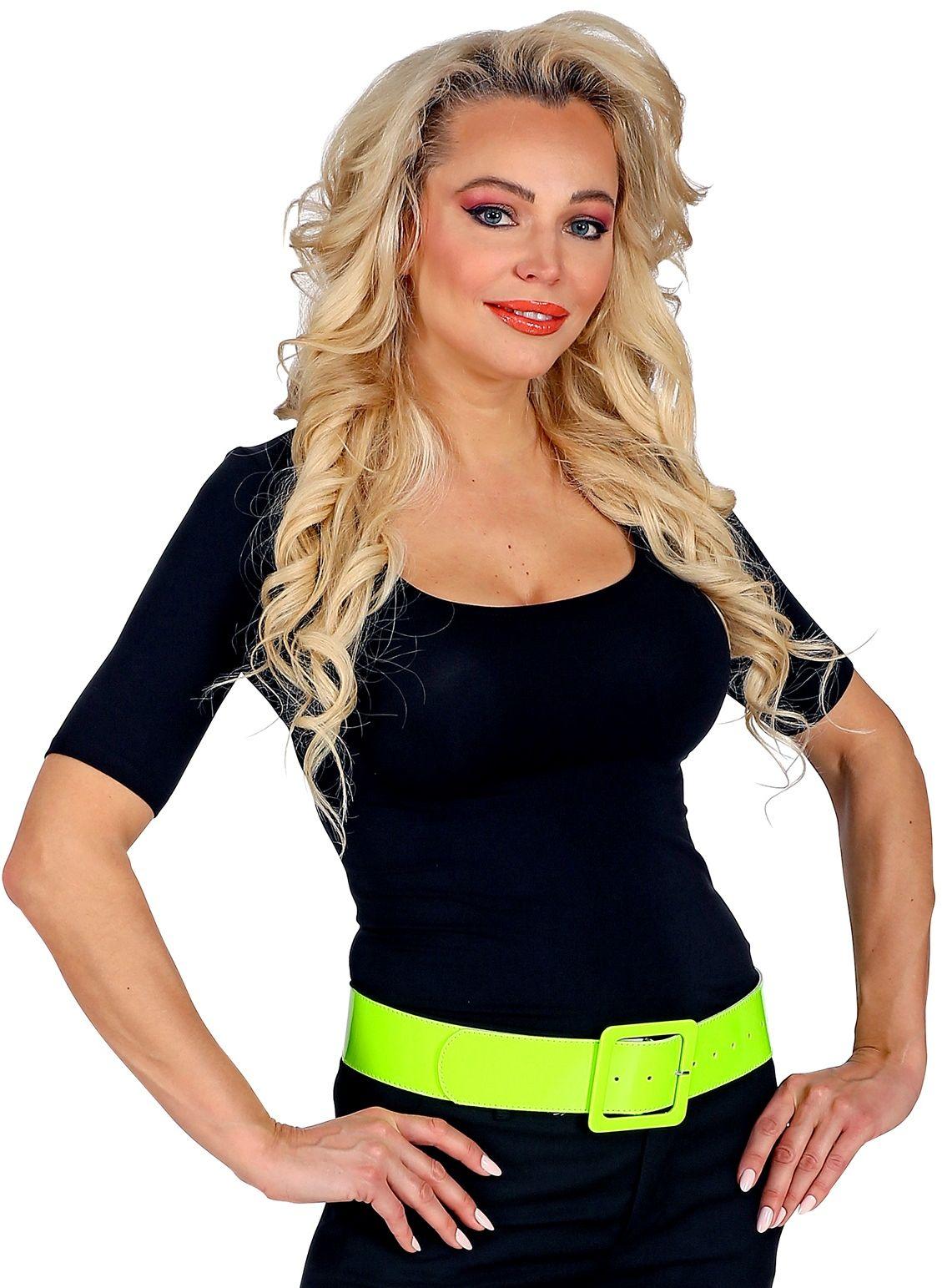Neon gele vinyl riem