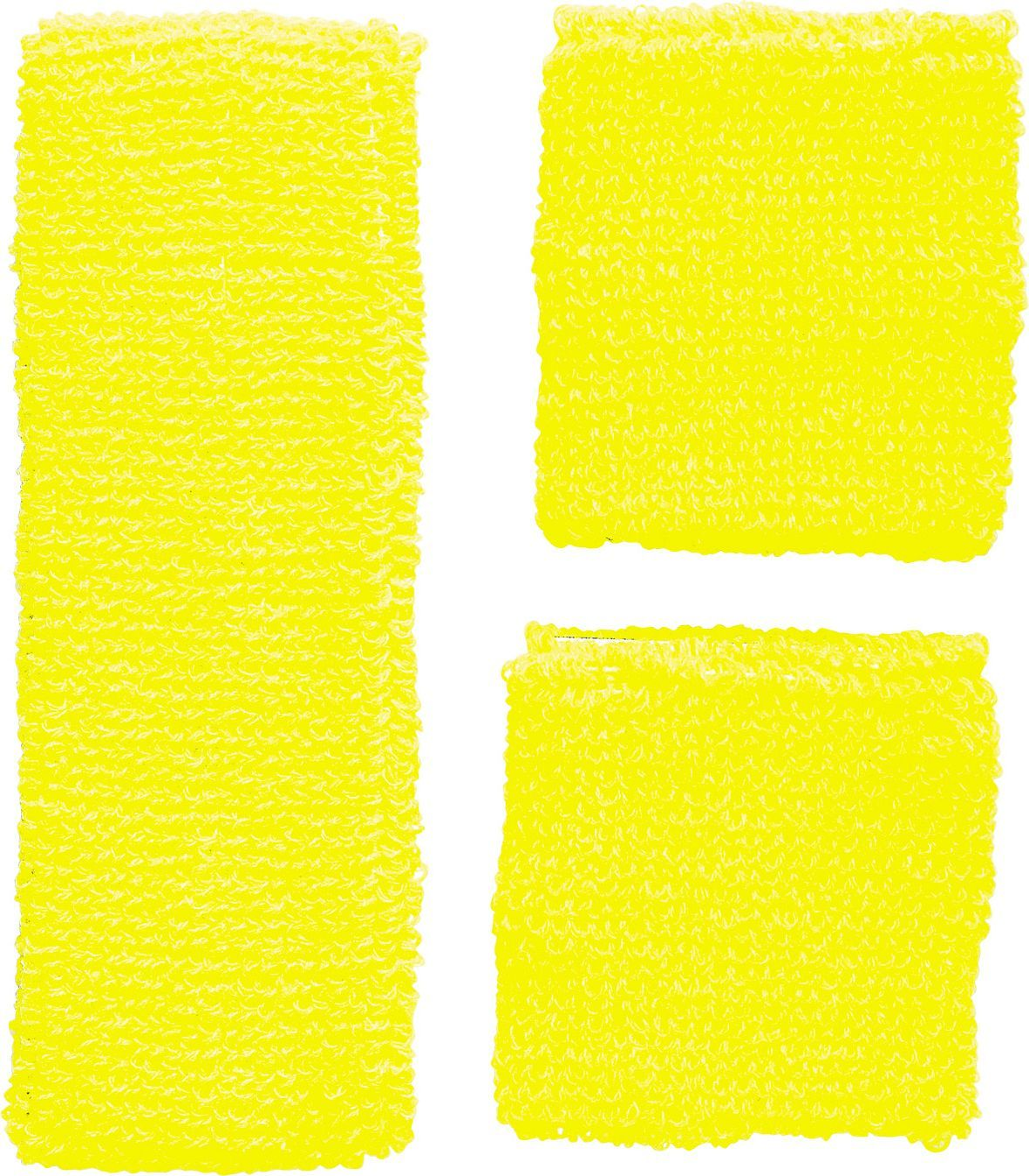 Neon gele zweetbandjes set