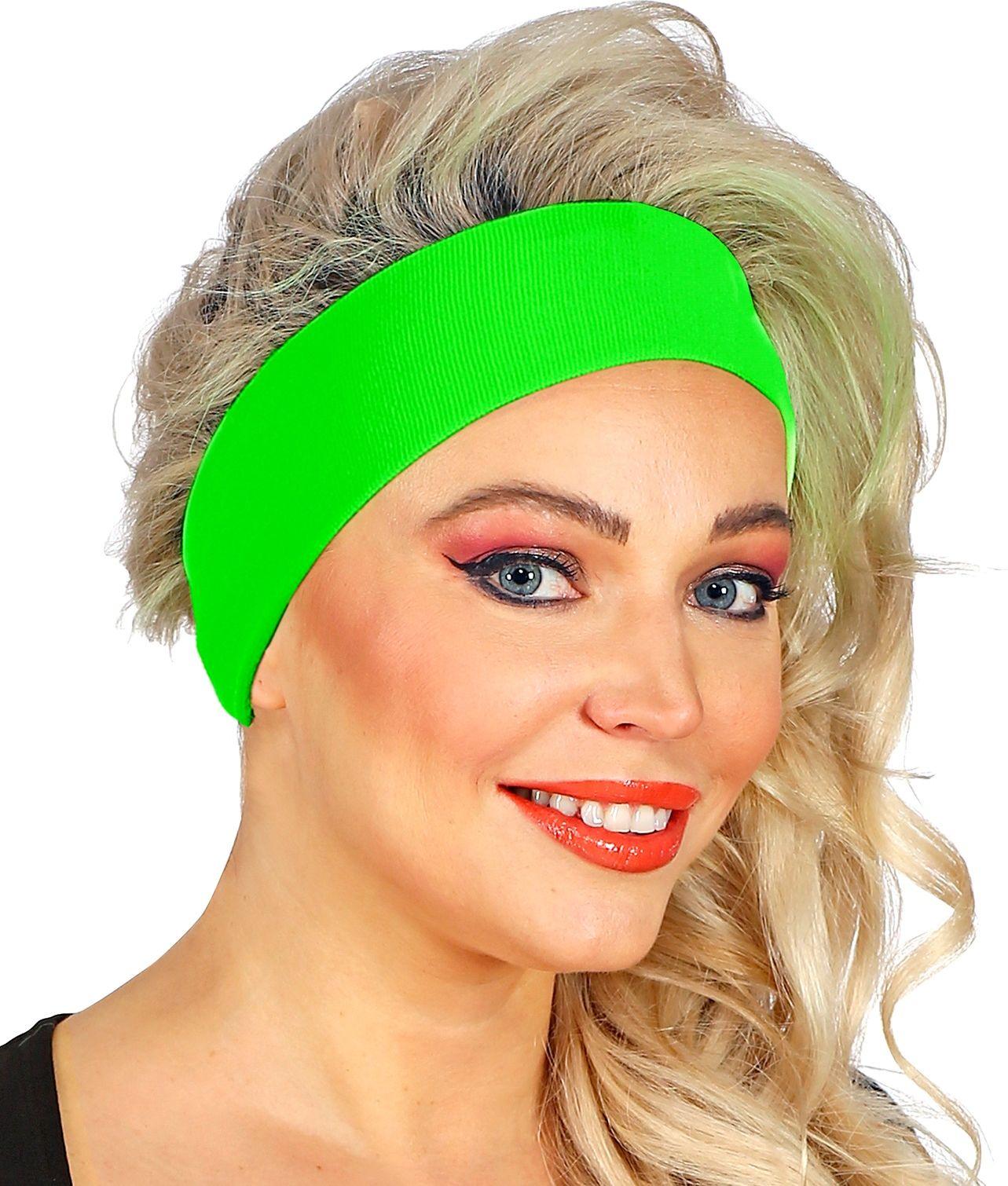Neon groene 80s hoofdband
