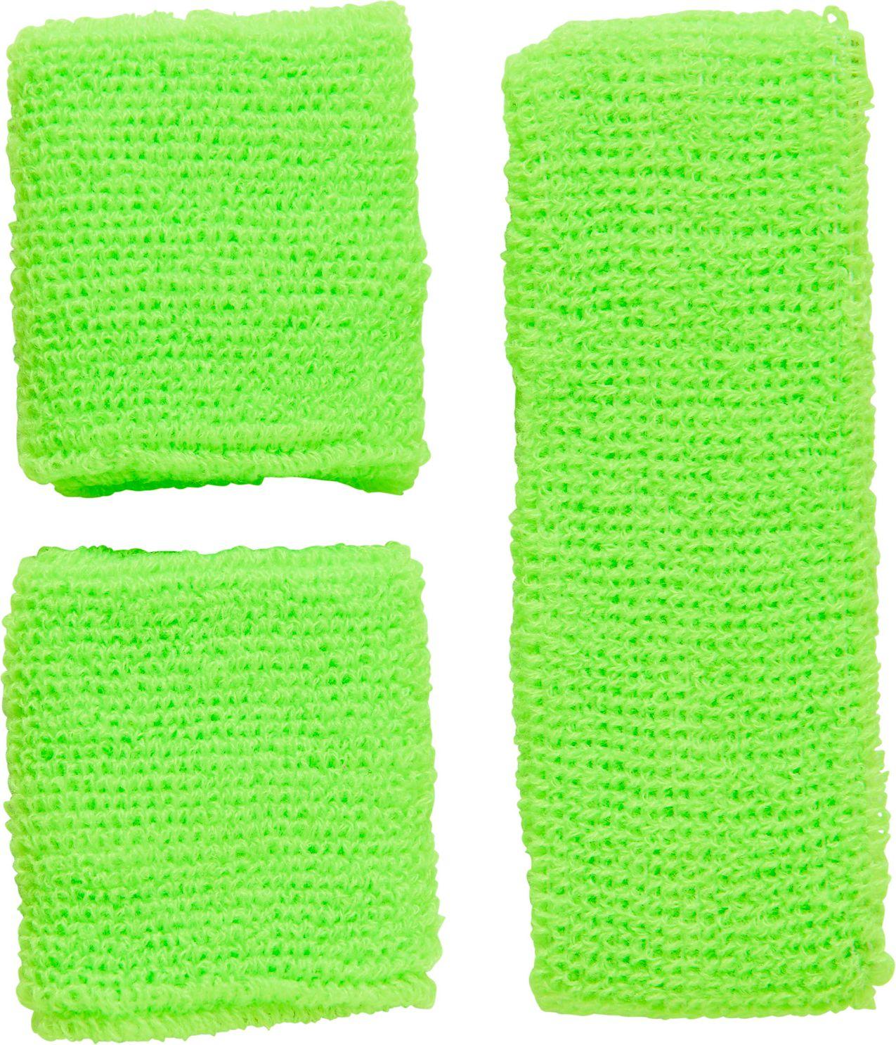 Neon groene zweetbandjes set