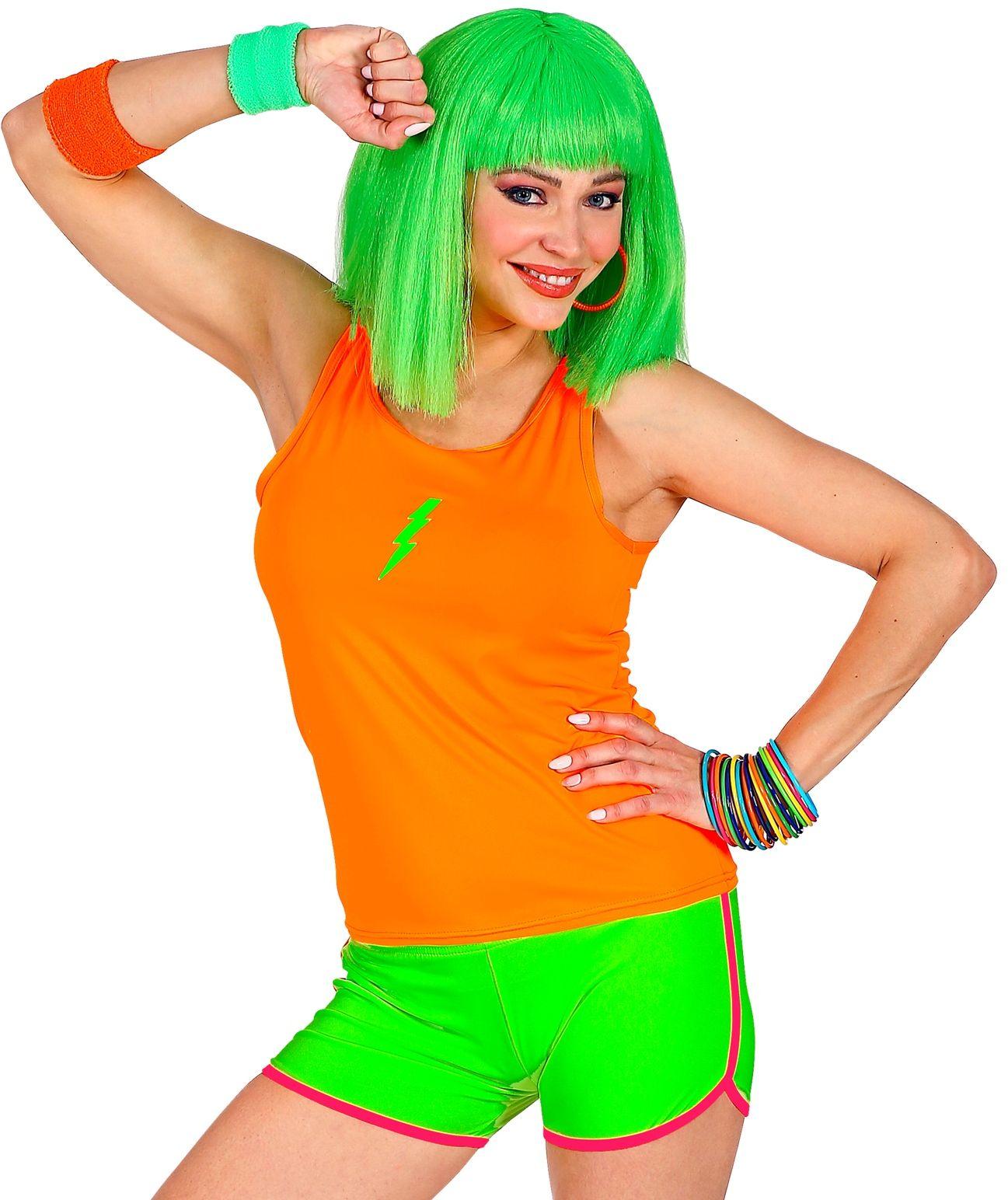 Neon hotpants groen