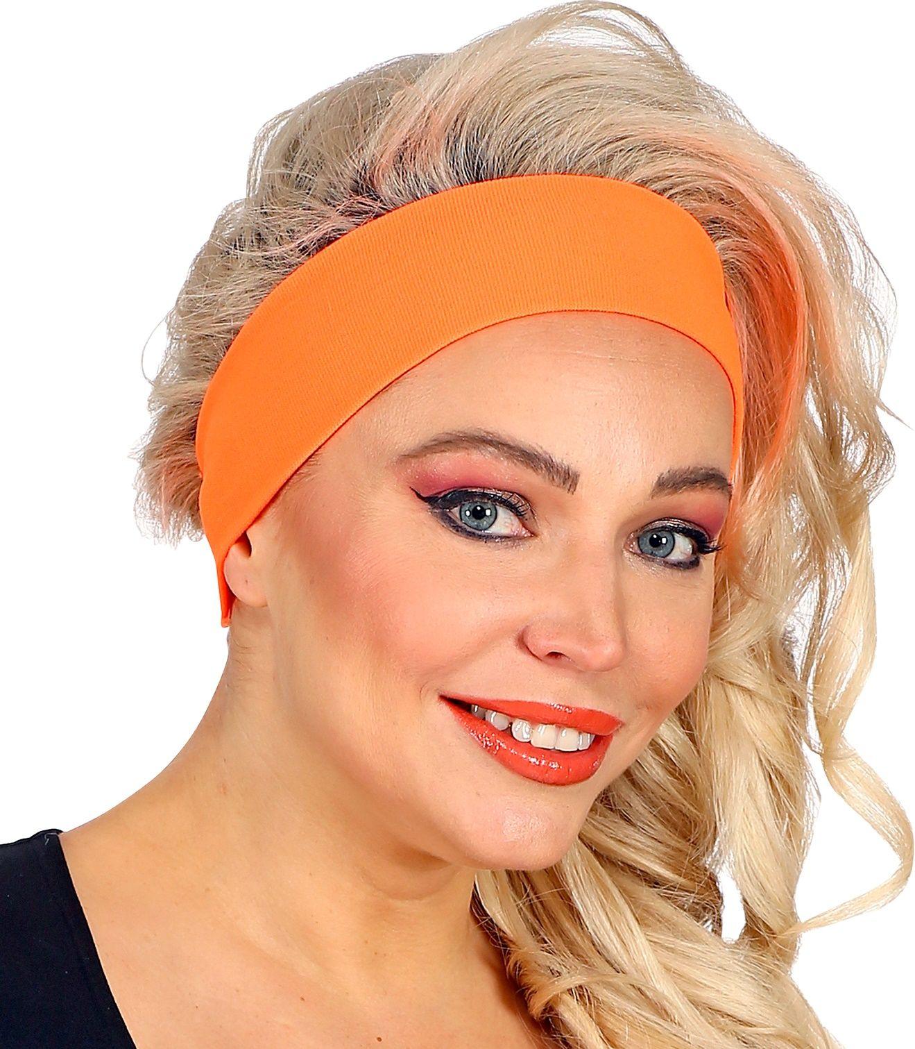 Neon oranje 80s hoofdband