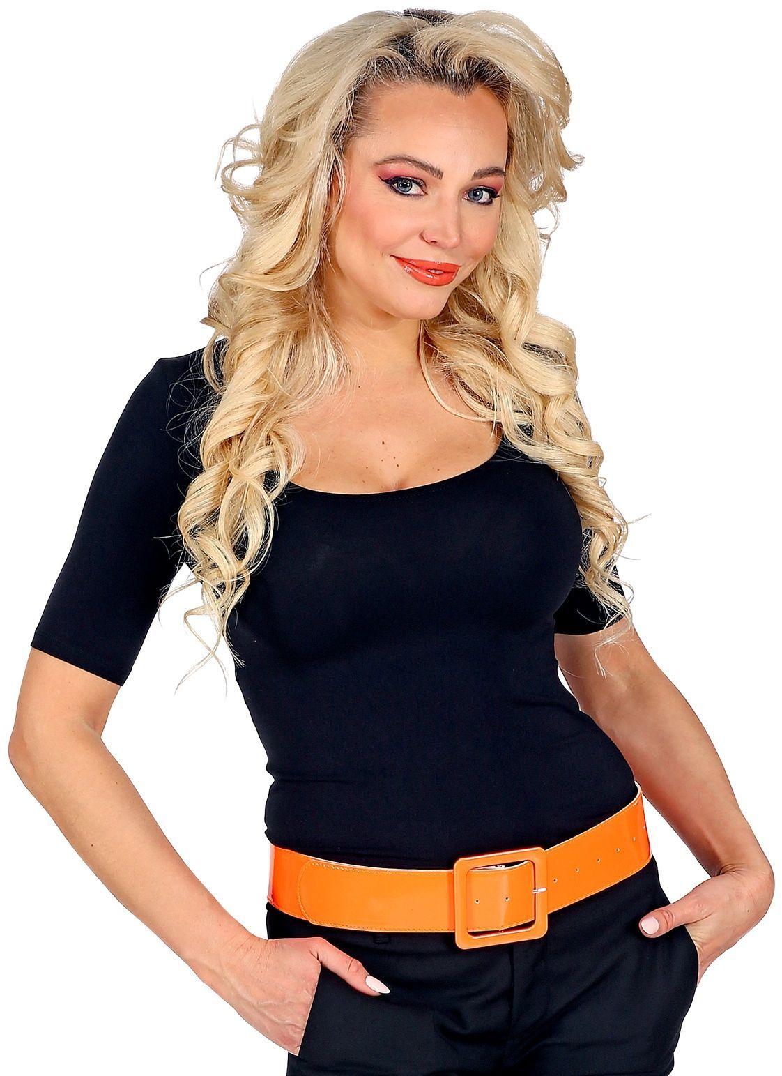 Neon oranje vinyl riem
