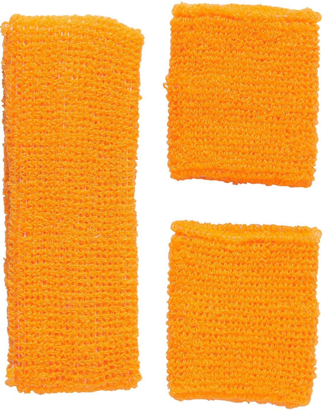 Neon oranje zweetbandjes set