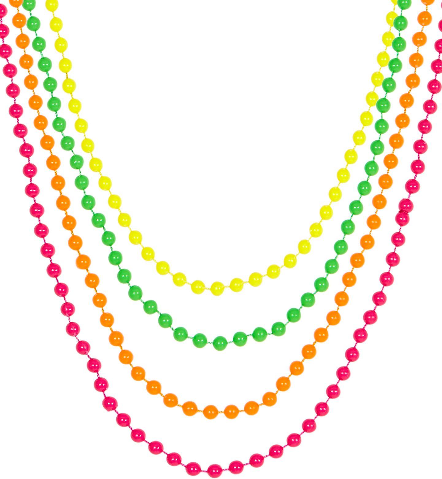Neon parelkettingen 4 kleuren