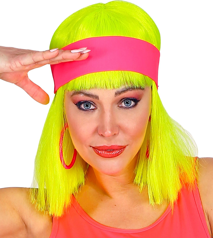 Neon roze 80s hoofdband