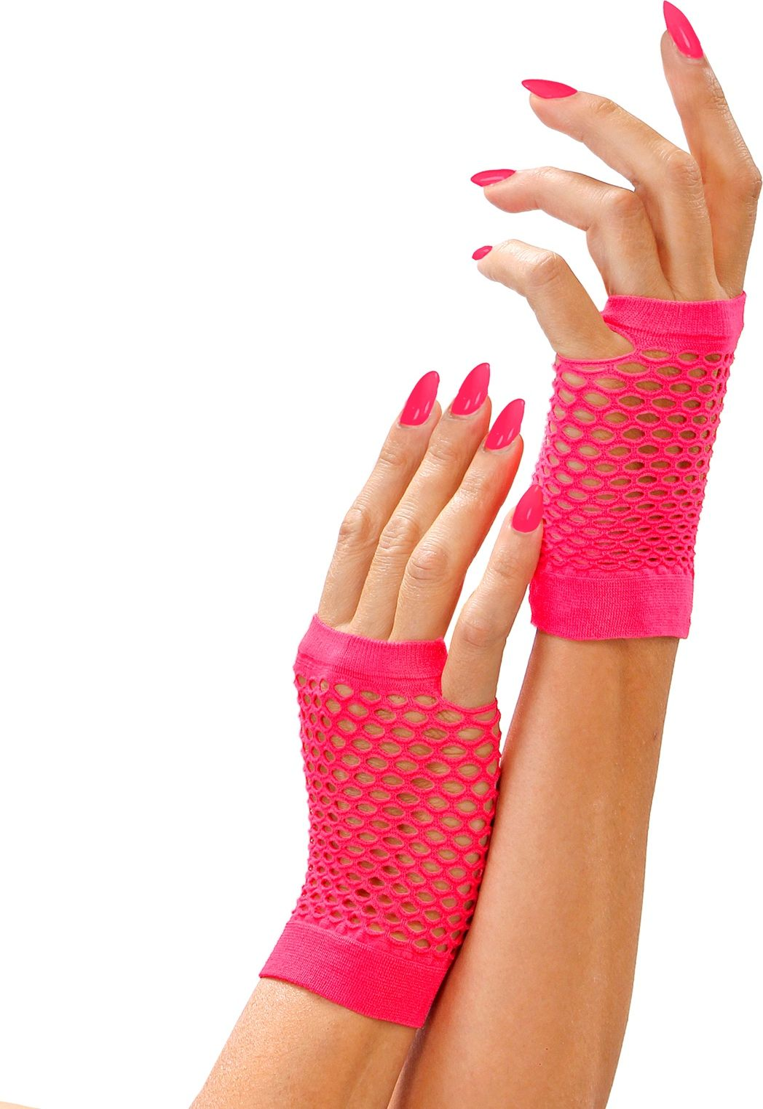 Neon roze toploze nethandschoenen