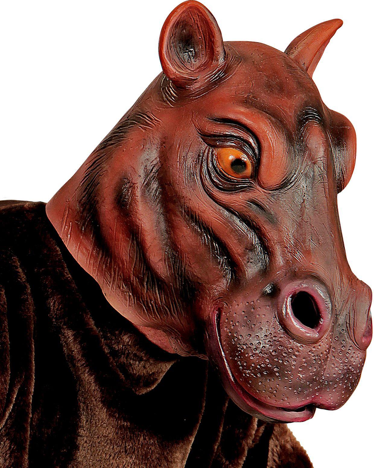 Nijlpaardenkop masker