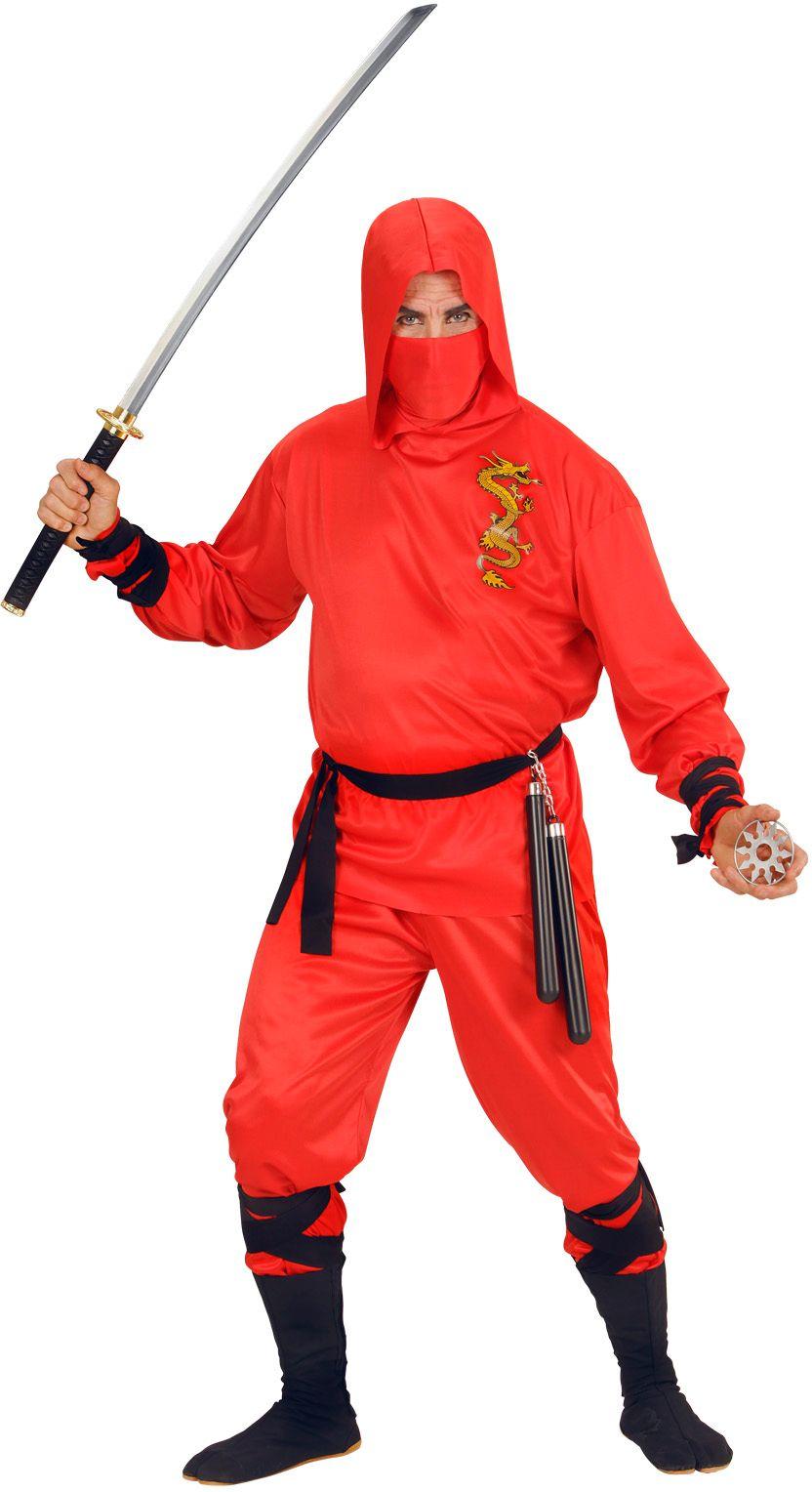 Ninja kleding rood