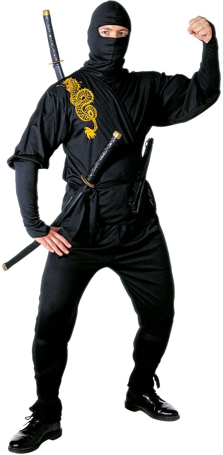 Ninja kostuum heren zwart