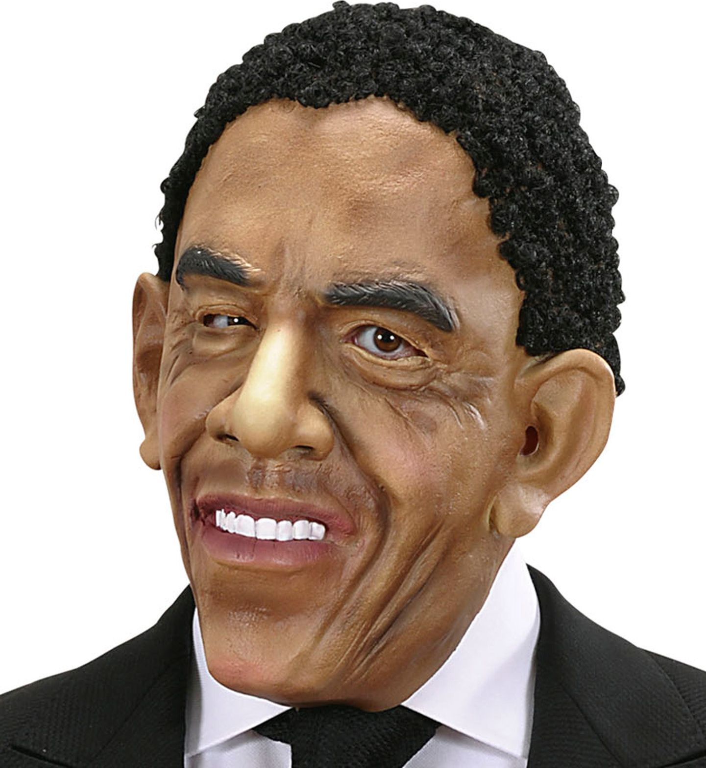 Obama masker met haar