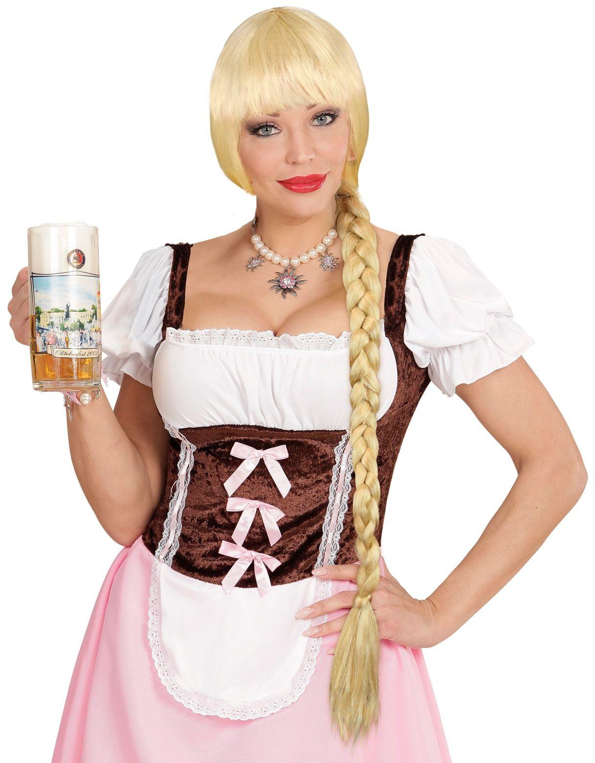Oktoberfest pruik blond