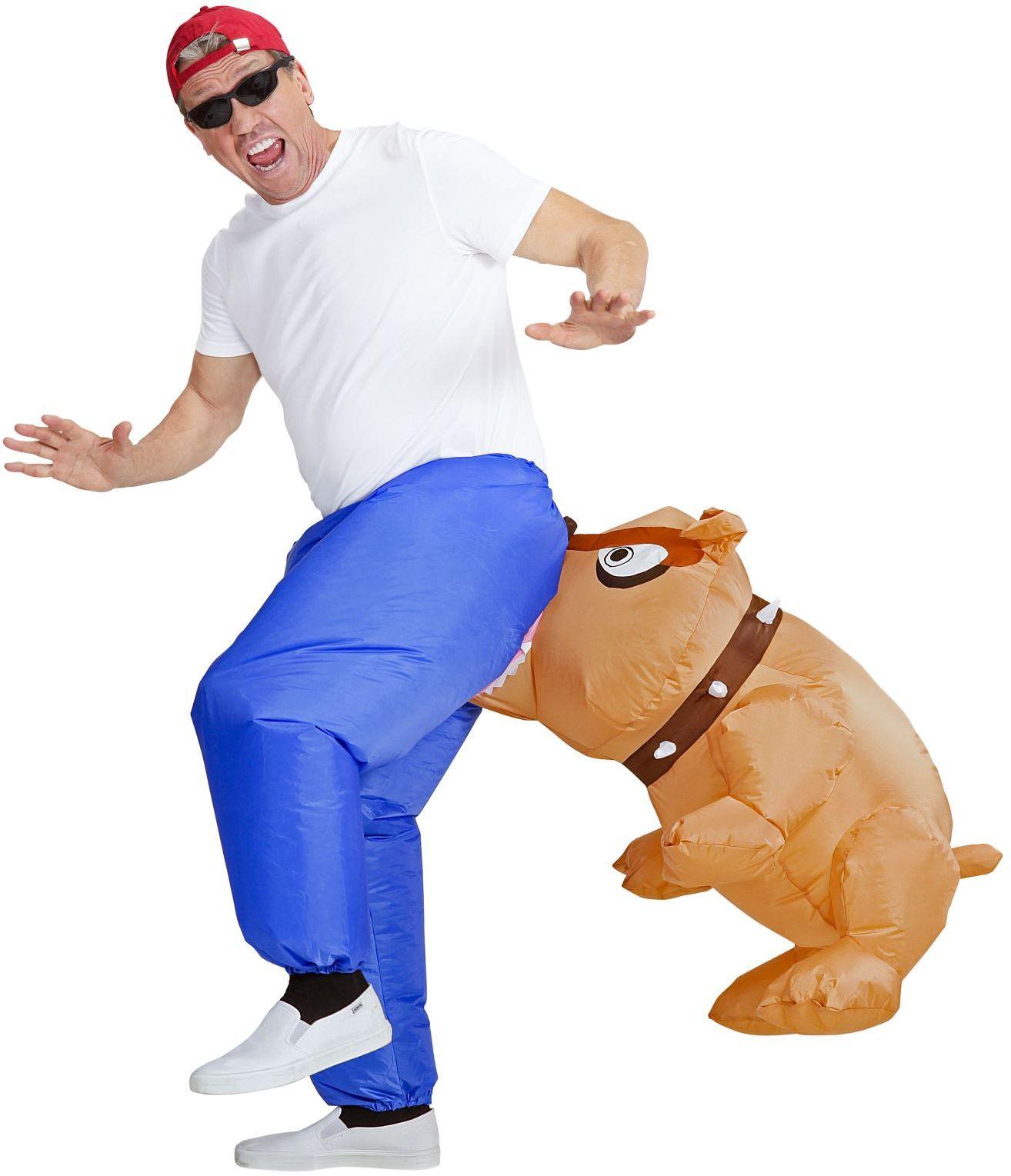 Opblaasbaar bijtende bulldog kostuum