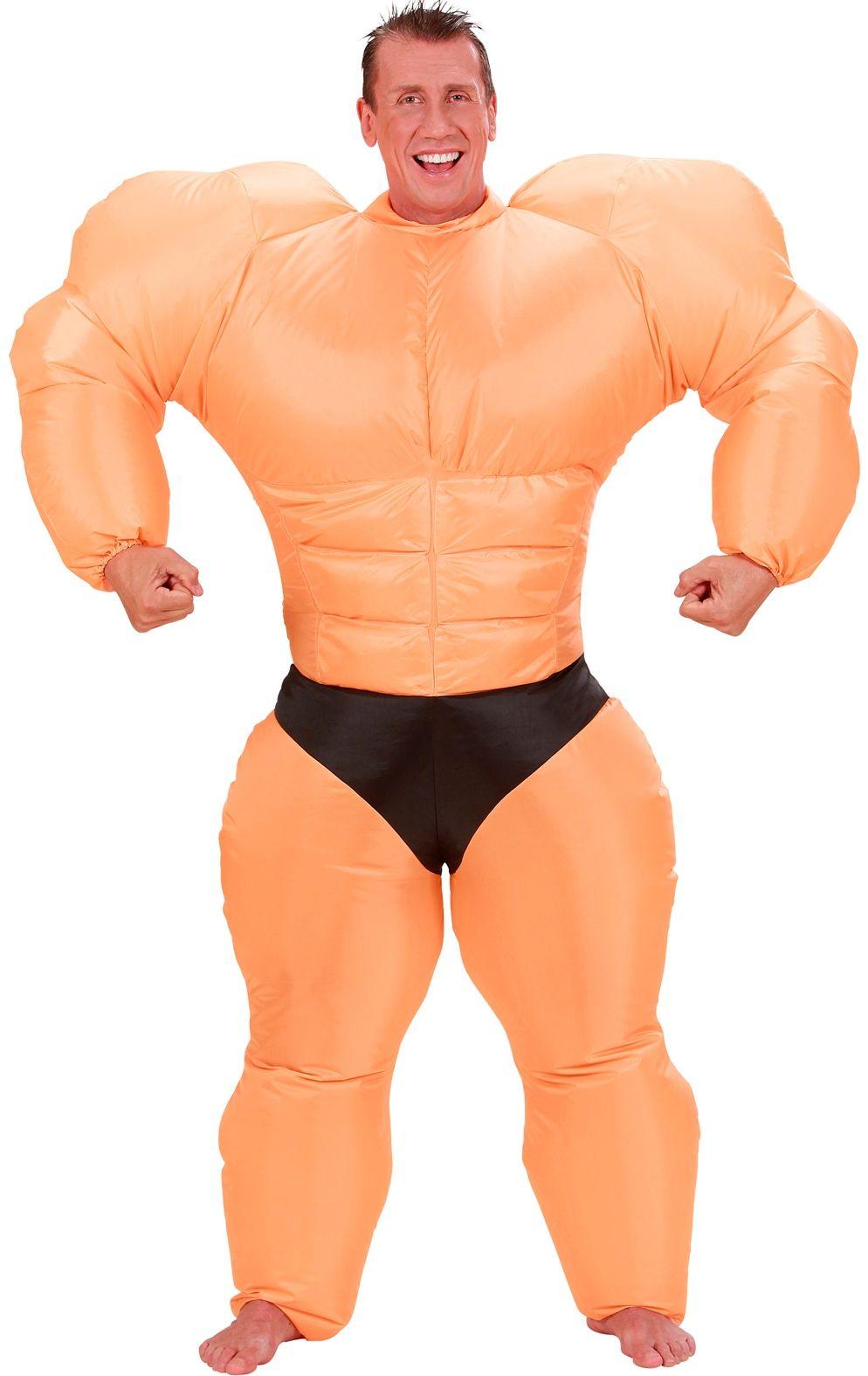 Opblaasbaar bodybuilder pak